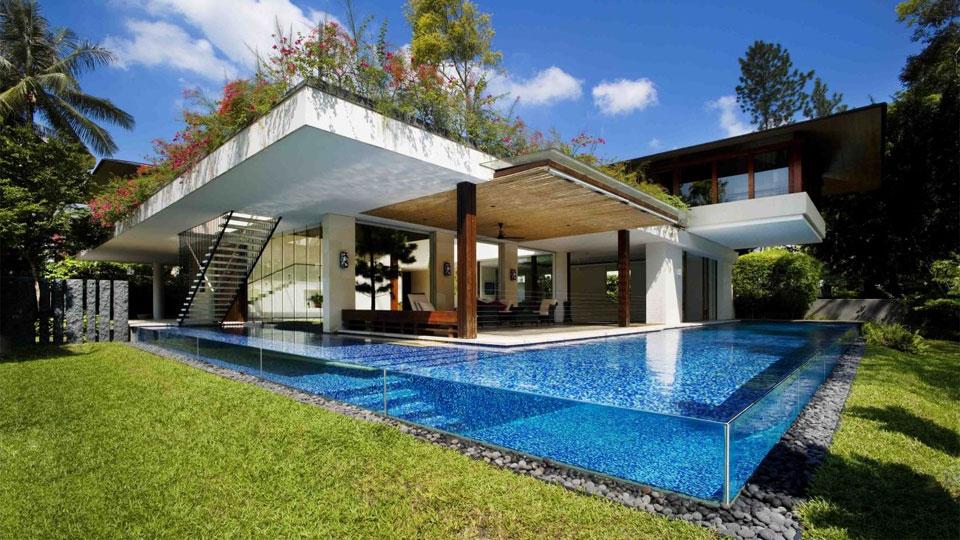 Rumah Tropis Modern The Tangga