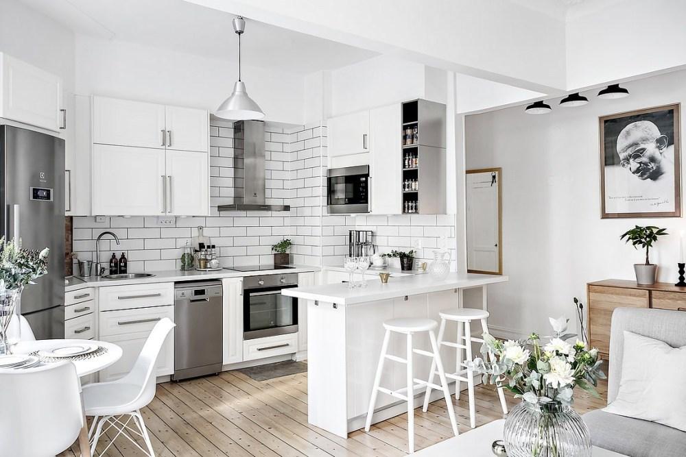 Dapur minimalis modern putih
