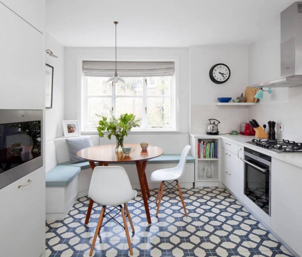 Dapur minimalis modern menyatu dengan ruang makan