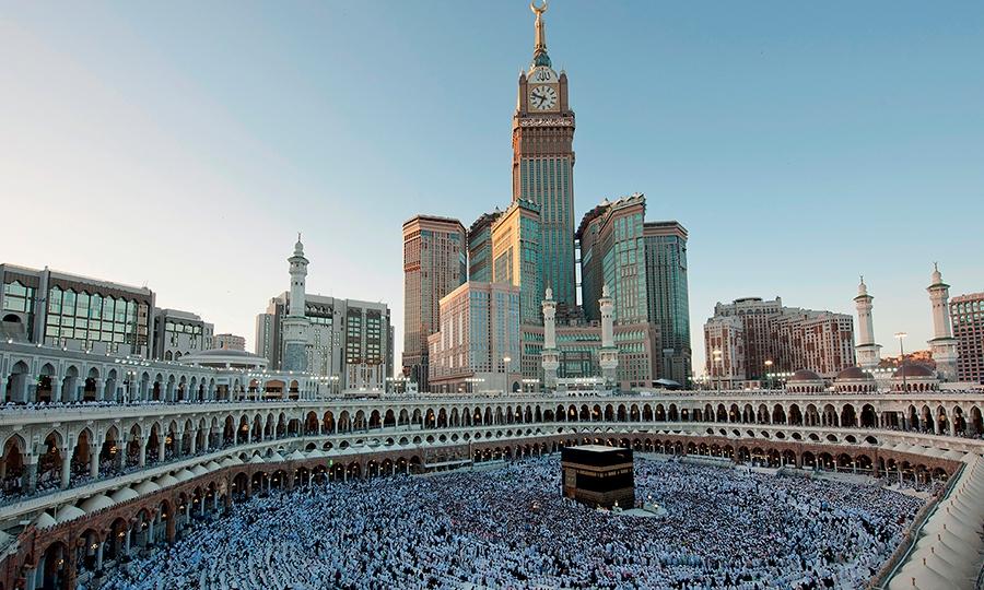 Gedung Pencakar Langit Mecca Clock