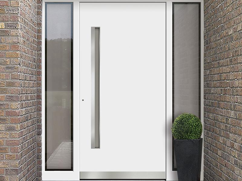 Kusen Pintu Minimalis dengan Bingkai Kaca