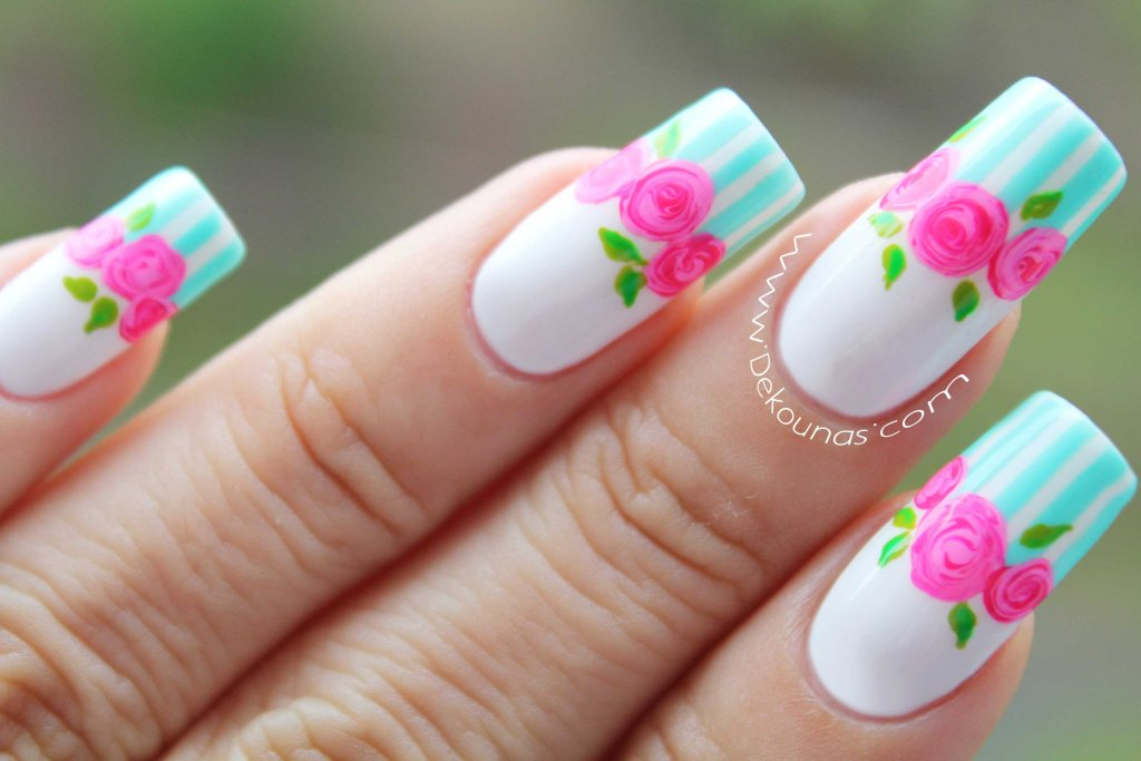 Decoracion de uñas rosas 2-2