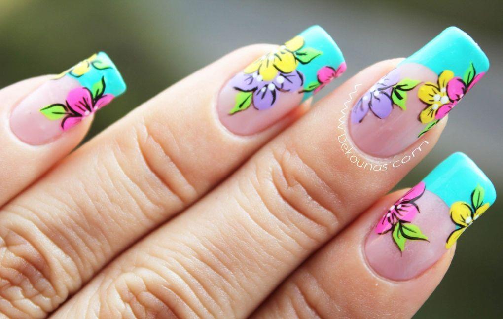Decoración de uñas flores2-2