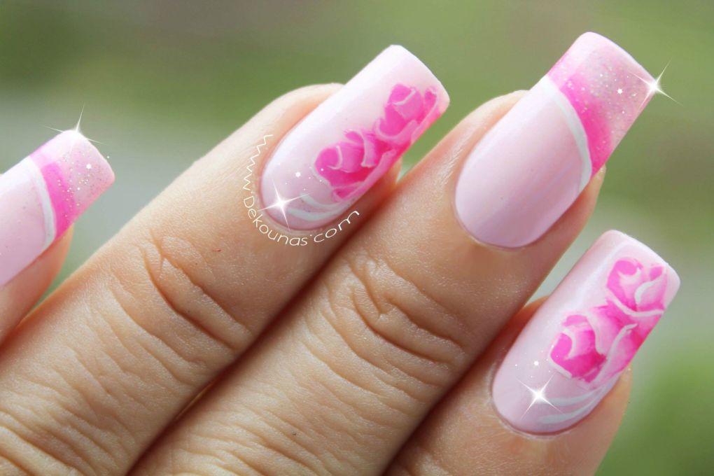 Decoración de uñas rosas2-3