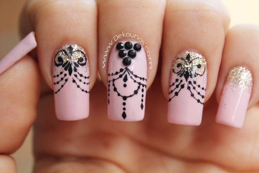 Decoración de uñas Glamour1