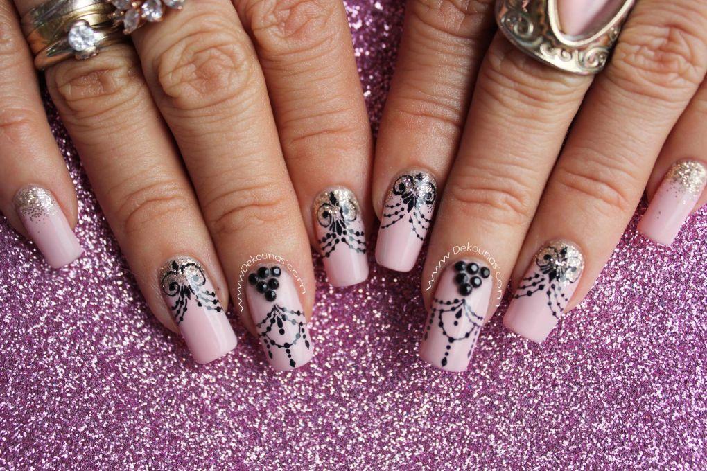 Decoración de uñas Glamour4
