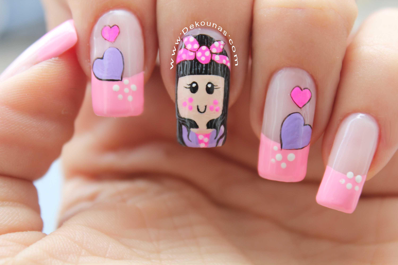 Diseño de uñas muñeca