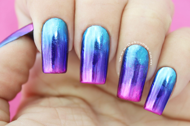 Diseño de uñas Foil