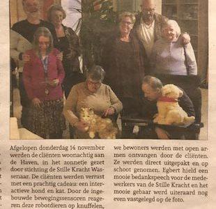 Schenking Door Stichting De Stille Kracht Van Wassenaar Aan Cliënten Van Haven Middin.
