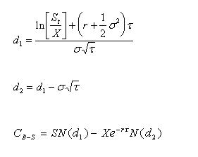 Black & Scholes-formule