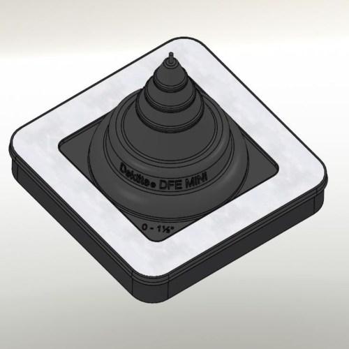 "Dektite Ezi Seal #0 Blk (0-35mm/0-1.5"")"