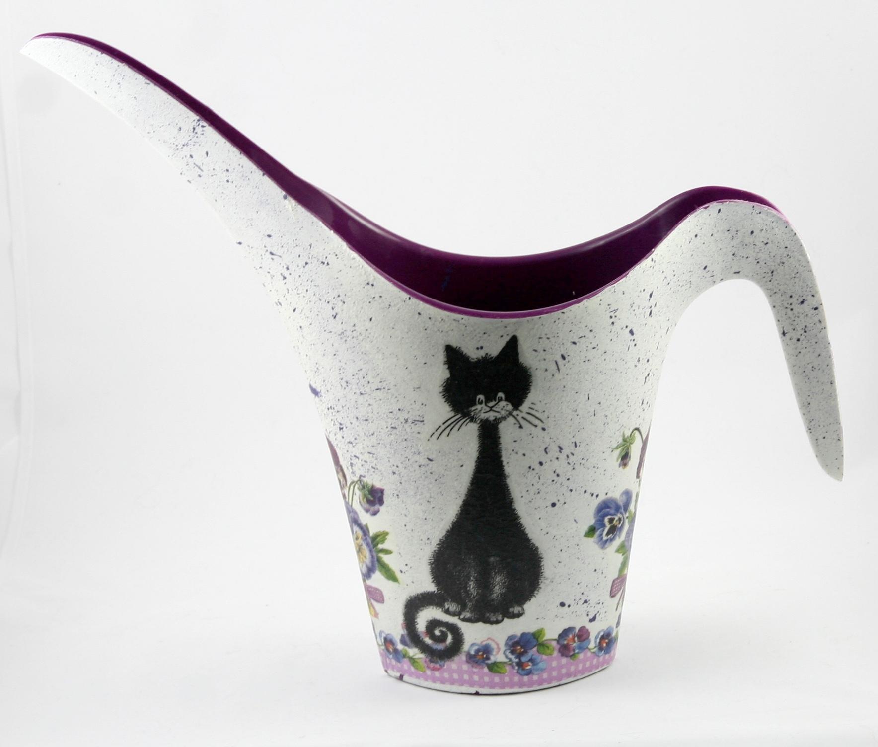 decoupage - konewki plastikowe fioletowy kot