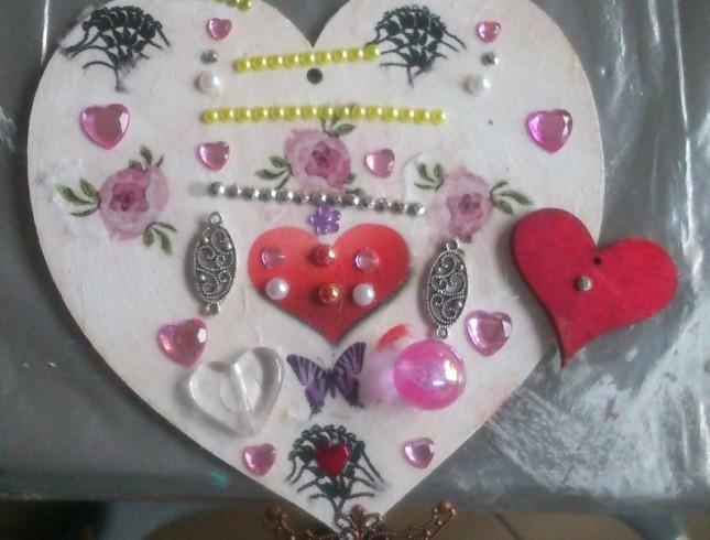 warsztaty decoupage'u Leszno Dwie Babeczki serce małe
