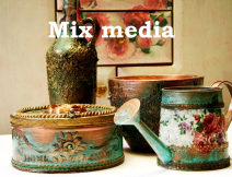 mix media decoupage