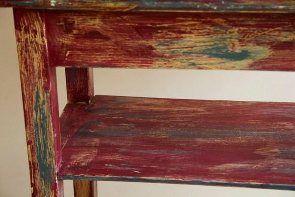 konsolka chippy look odnawianie mebli farby kredowe