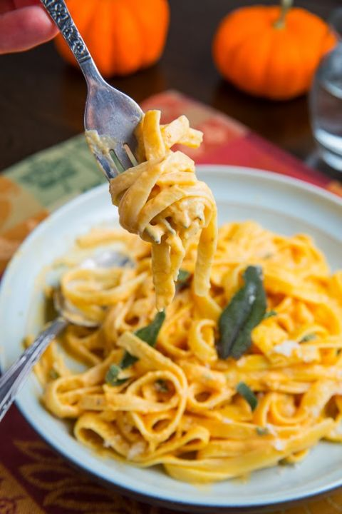 Pumpkin makes fettuccine alfredo even creamier. Get the recipe from Closet Cooking.
