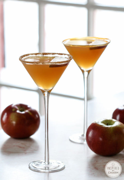 Apple martini's are even better with some caramel mixed in. Get the recipe from Inspired By Charm.