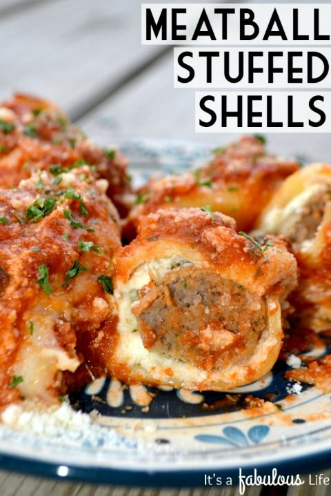 It just isn't pasta without meatballs. Get the recipe from It's a Fabulous Life.