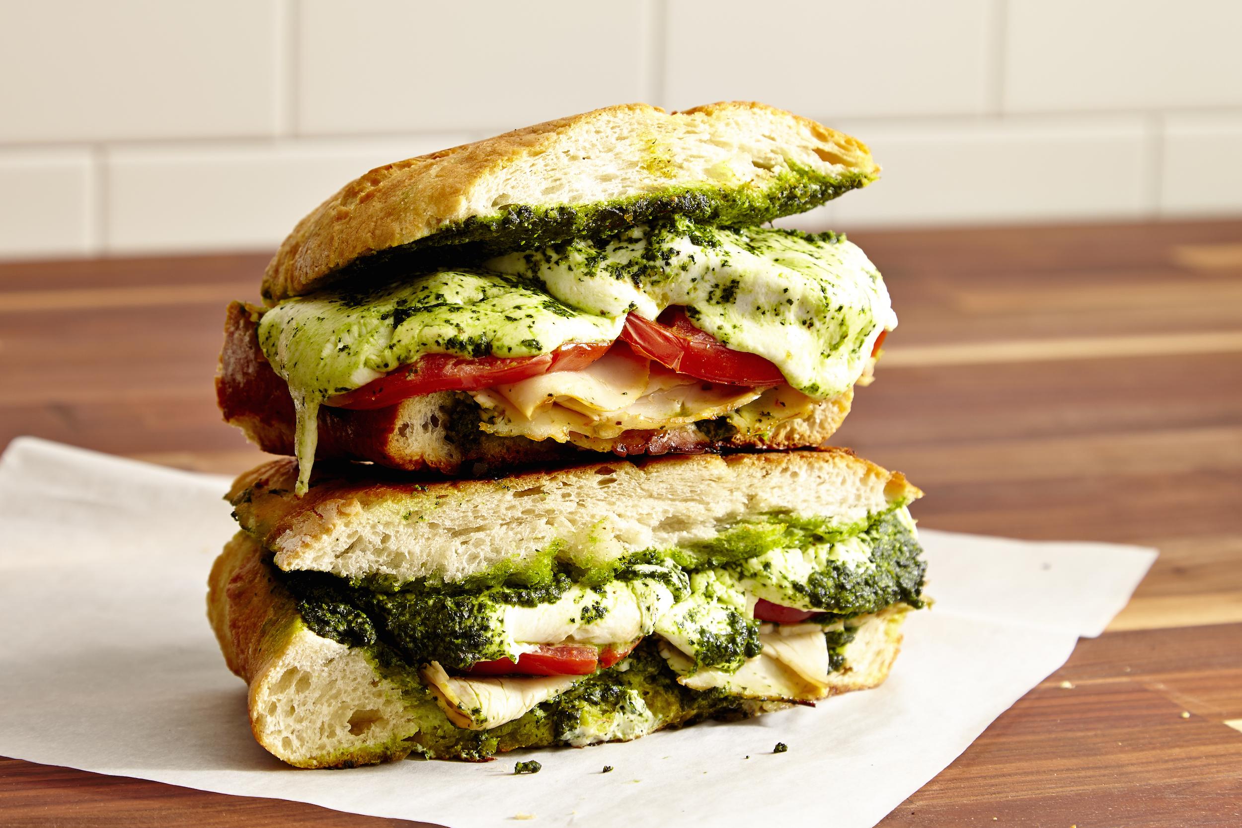 Best Turkey Mozzarella And Kale Pesto Panini Recipe