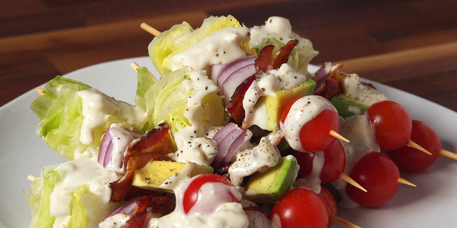 Easy Wedge Salad On A Stick