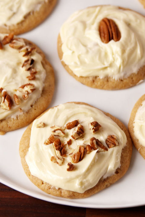 Buttery cookies smothered with a maple frosting = HEAVEN. Get the recipe fromDelish.