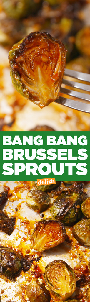 Bang Bang Brussels Sprouts Vegetable Side Dish Recipe via delish - Get ready for some bangin' Brussels.
