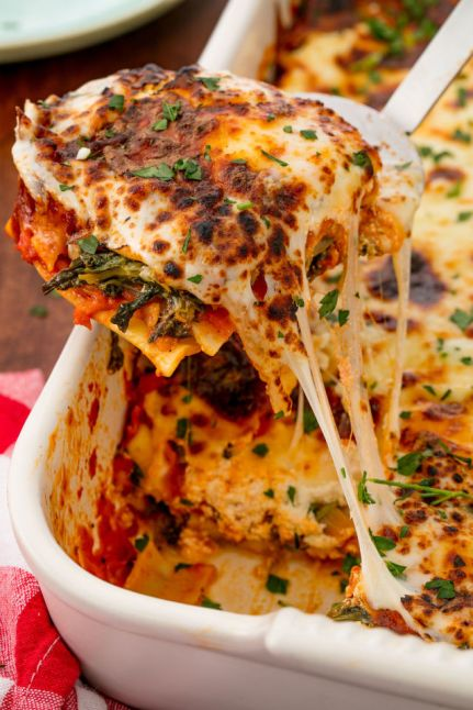 Spinach Lasagna Vertical