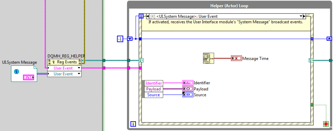 DQMH: Helper loop with event structure registered to broadcast events