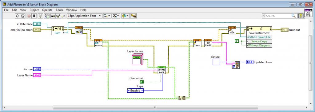 Block diagram for adding a picture to a VI icon