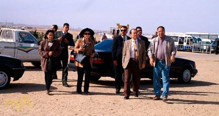 Comitiva de la ONU visita las Pirámides