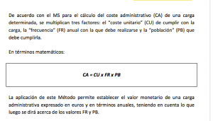 coste administrativo