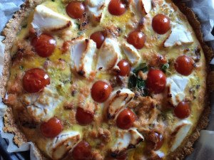 Salmon & Goats Cheese Tart; Delalicious