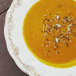 Roast Root Vegetable Soup; Delalicious