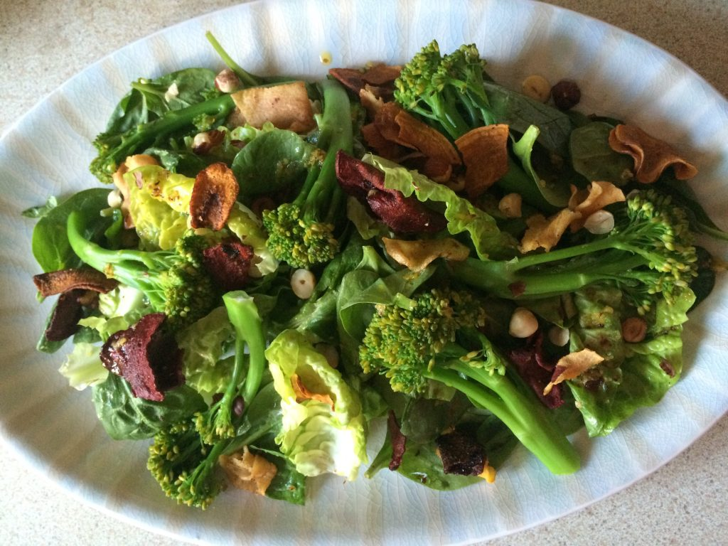Broccoli, Baby Gem & Hazelnut Salad; Delalicious