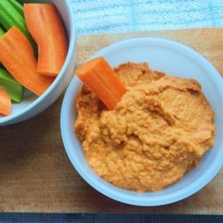 Roast Garlic & Carrot Hummus; Delalicious