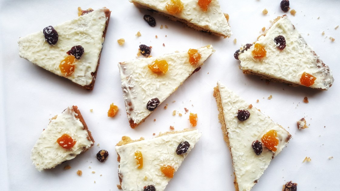 White Chocolate, Apricot & Oat Slices; Delalicious