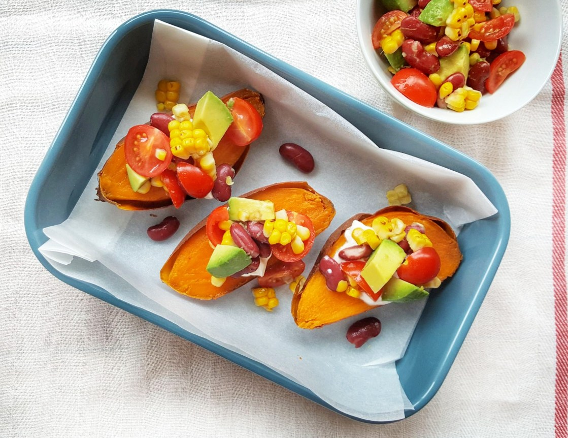 Stuffed Sweet Potato Boats; Delalicious