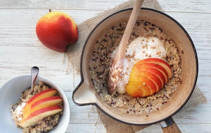 Quinoa, Buckwheat & Linseed Porridge; Delalicious