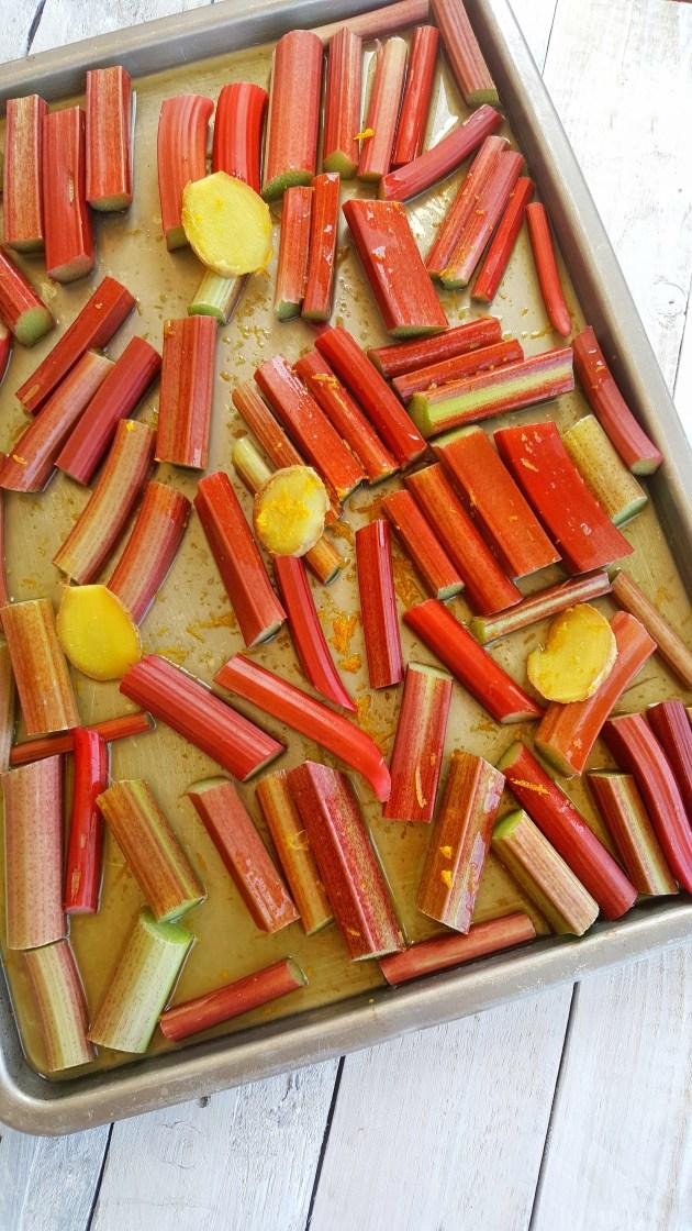 Ginger & Orange Poached Rhubarb; Delalicious