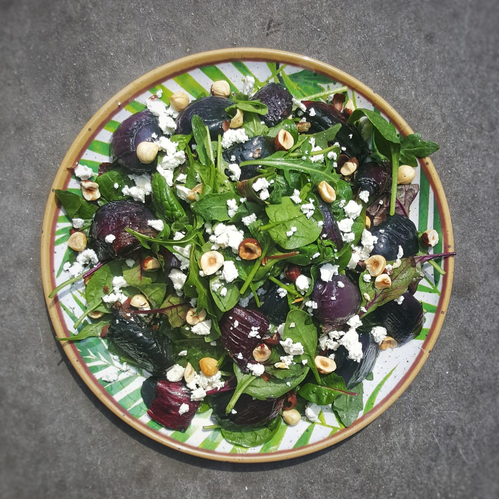 Roast Red Onion & Feta Salad; Delalicious