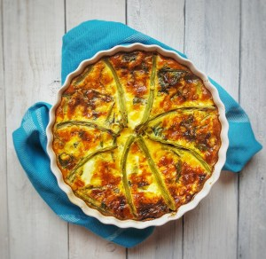 Cheesy Greens Quiche; Delalicious