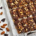 Salted Almond Caramel Bars; Delalicious; Sinead Delahunty