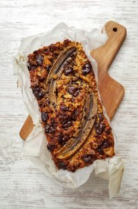Dark Chocolate, Banana & Walnut Oat Loaf; Delalicious; Sinead Delahunty