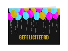Wenskaart Gefeliciteerd
