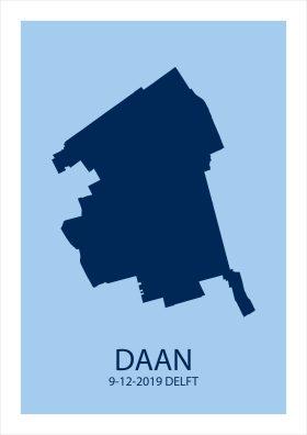 Geboorteposter Delft abstract