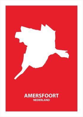 Abstracte stadsposter Amersfoort