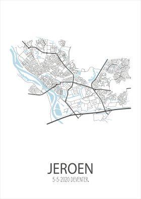 Geboorteposter Deventer
