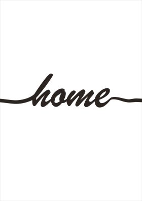 Poster Home witte achtergrond