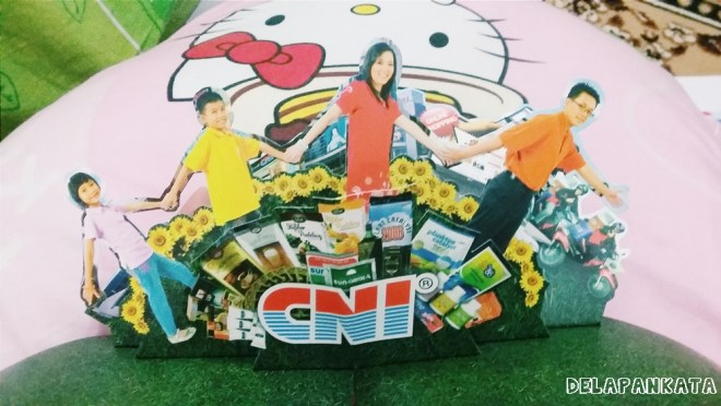 Pop-up CNI yang ada di dalam katalog CNI. Lucuk :3
