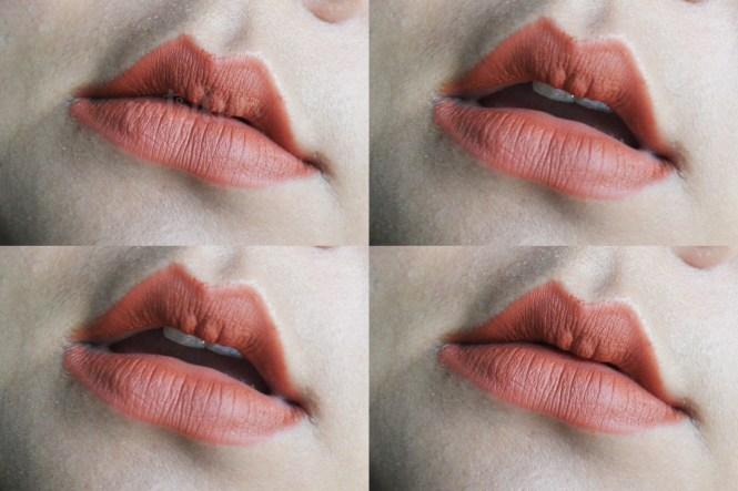 Purbasari Lipstick Color Matte 83 swatches to lips_delapankata_putrikpm